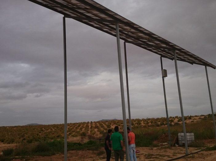 Estructura de bombeo solar